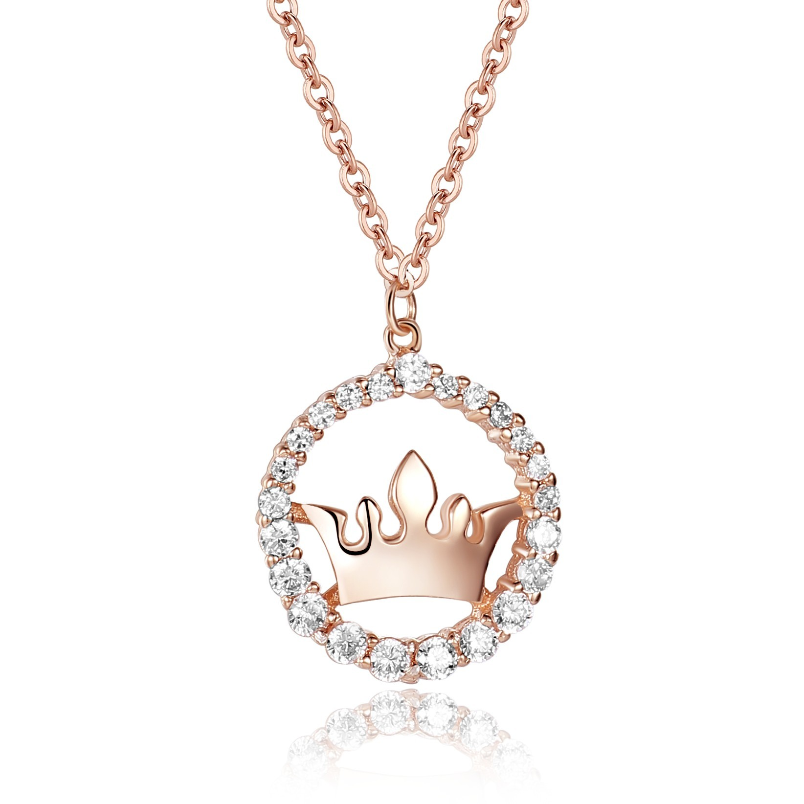 diamond gold womens pendant mainwh crown necklace