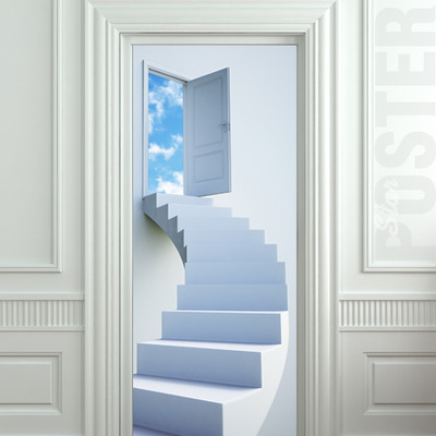 Wall Door STICKER stairs flight sky heaven decole poster 30x79 (77x200cm) / · Pulaton · Online Store Powered by Storenvy & Wall Door STICKER stairs flight sky heaven decole poster 30x79 ...