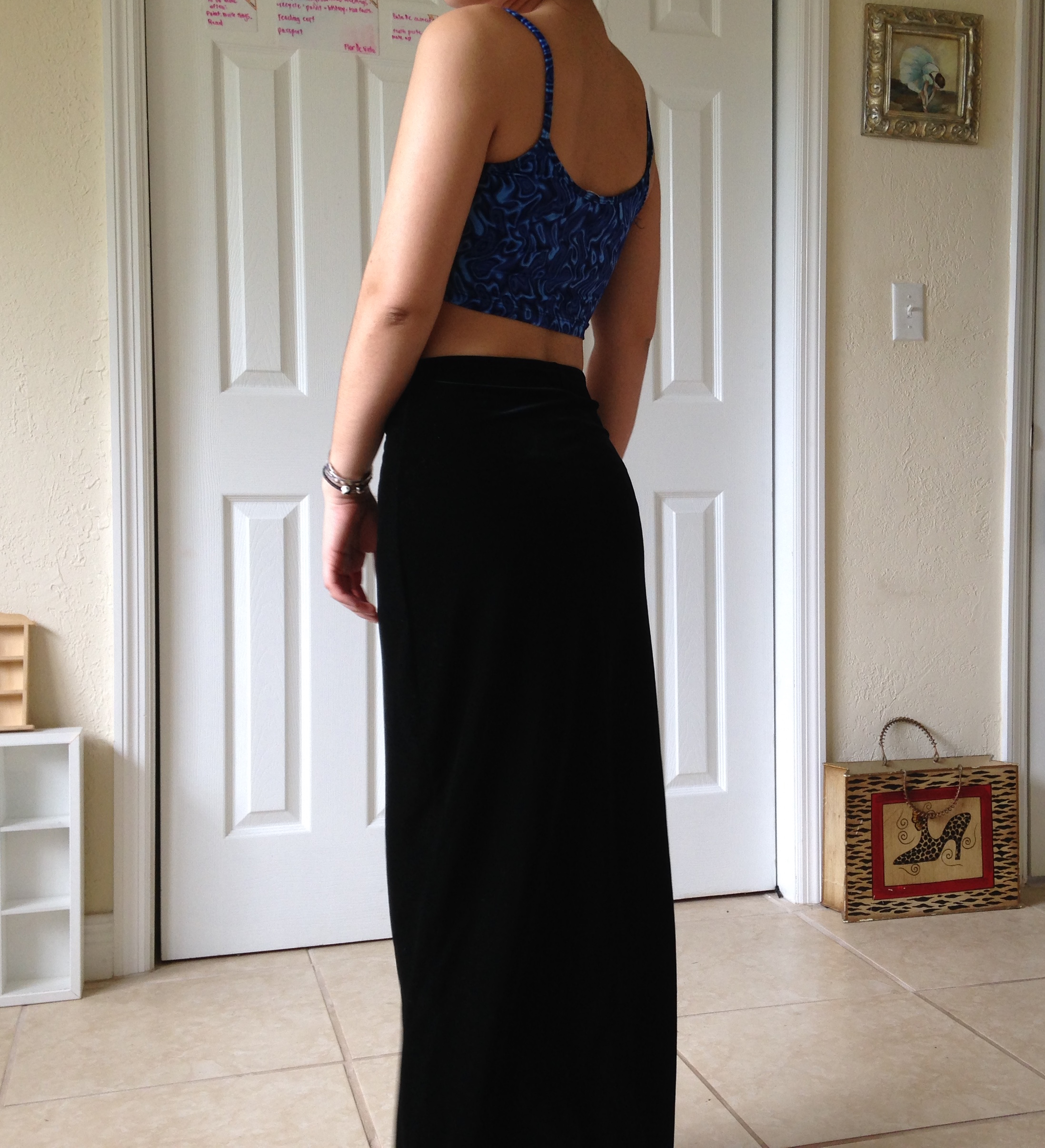 High Waisted Black Velvet Maxi Skirt · With Love, K · Online Store ...