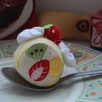 Kawaii Fruit Cake Roll Cellphone Plush