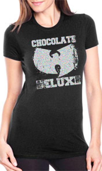 Wu Tang Clan Chocolate Deluxe Ladies Top Anonymous Graphix