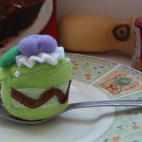 Kawaii Green Cake Cellphone Plush