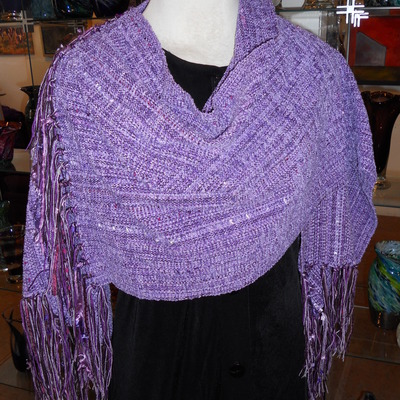 Lavender fields - munstead (v-shaped shawl)