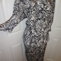 Black and White Peplum Plus Size Dress Size 16W!