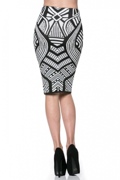 aztec pencil skirt black 183 stylo clothing and shoes