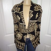 Vintage Black and Cream Blazer Size L or  XL