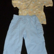 Yellow ABC Shirt with Matching Blue Pants-Baby B'Gosh Size 3 Months