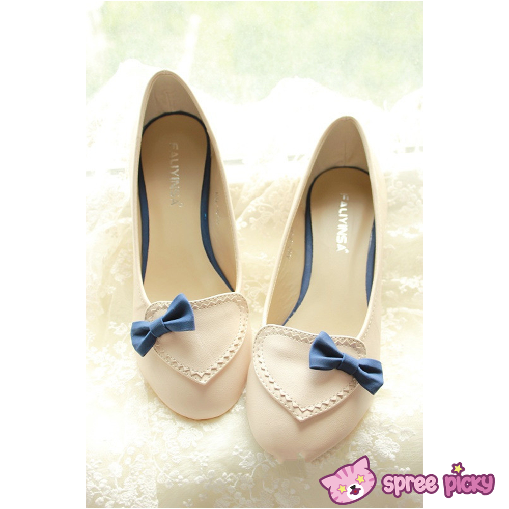 pink beige j fashion with bow shoes sp140339