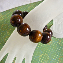 Wooden Chunks Stretch Bracelet