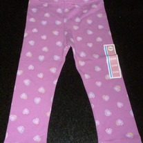 Purple Heart Leggings-NEW-Circo Size 24 Month