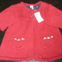 Red Sweater-NEW-Baby Gap Size 6-12 Months