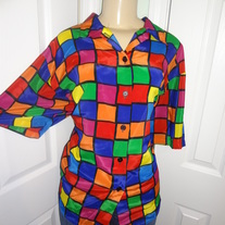SOLD OUT!  Vintage Plus Size Colorful Top Size XL or 16!!