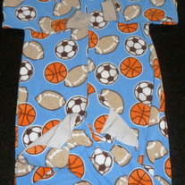 Blue Sports Footed PJ's-Child of Mine Size 24 Months