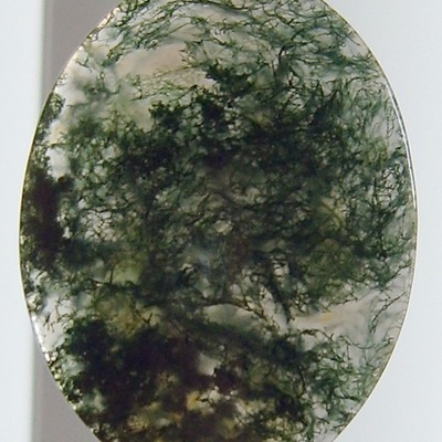 Moss agate cabochon (2)