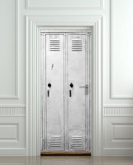 Wall Door Sticker Cells Cell Door Checkroom Cloakroom