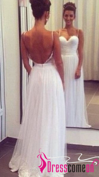 Backless wedding dresses with straps white lace 2016 simple beach backless wedding dresses with straps white lace 2016 simple beach wedding dress gownlong junglespirit Gallery