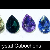 TearDrop czech crystal (faceted) 10mm x 14mm