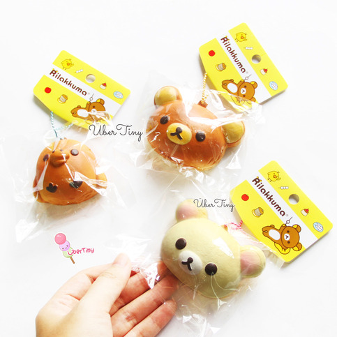 Very Small Squishy Collection : Rilakkuma Head Mascot Squishy (Licensed) ? Uber Tiny ? Online Store Powered by Storenvy