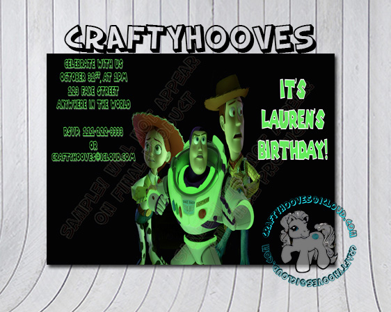 Toy Story Of Terror Disney Birthday Halloween Party Invitations U Print Custom World