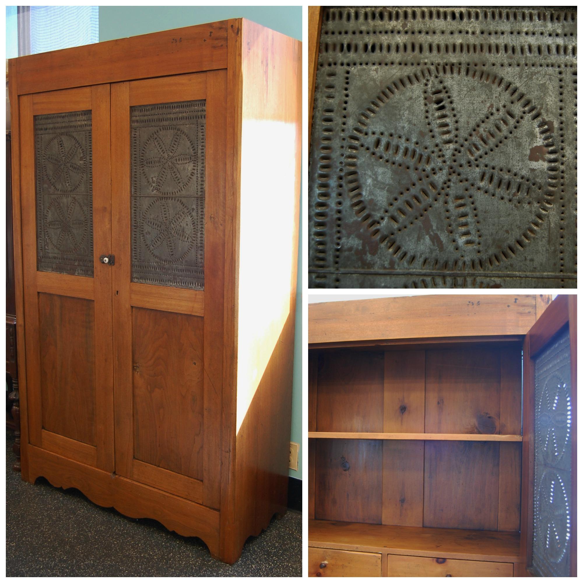 Large 1800s Plank Pie Safe / Cabinet