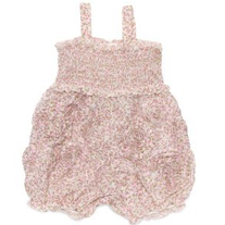 Meadowsweet Floral Romper With Passementerie Detail in Pink