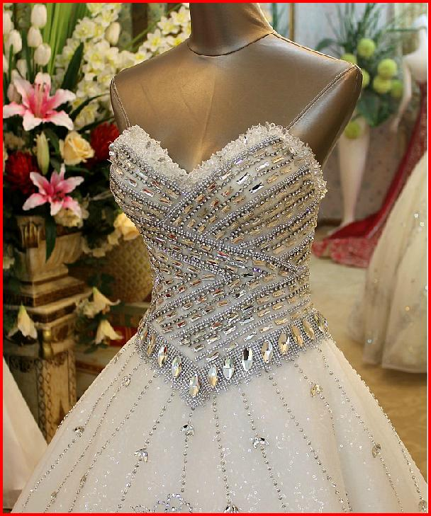 Wedding Dresses With Crystals : Yz new arrival gorgeous luxurious swarovski crystals