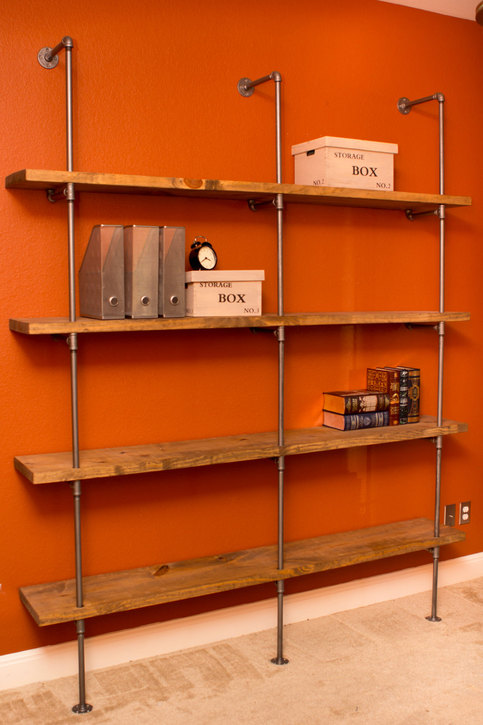 Industrial Modern Pipe Shelving Unit Furniture 36 Quot Wx84 Quot H
