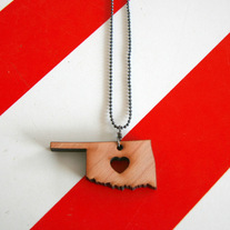 Oklahoma Heart Necklace