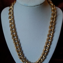 Gold Frost Chain Necklace