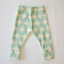 organic cotton plus three leggings in teal