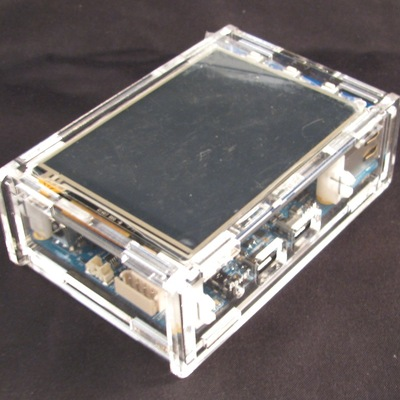 Odroid c1 case with touchscreen support