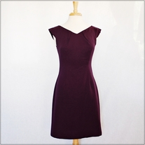Purple Sheath Dress