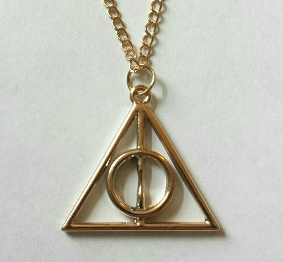 harry potter gold deathly hallows necklace lil 39 pixie