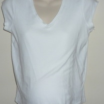 White Short Sleeve Nursing Shirt-Motherhood NursingWear Size Medium  SF0413