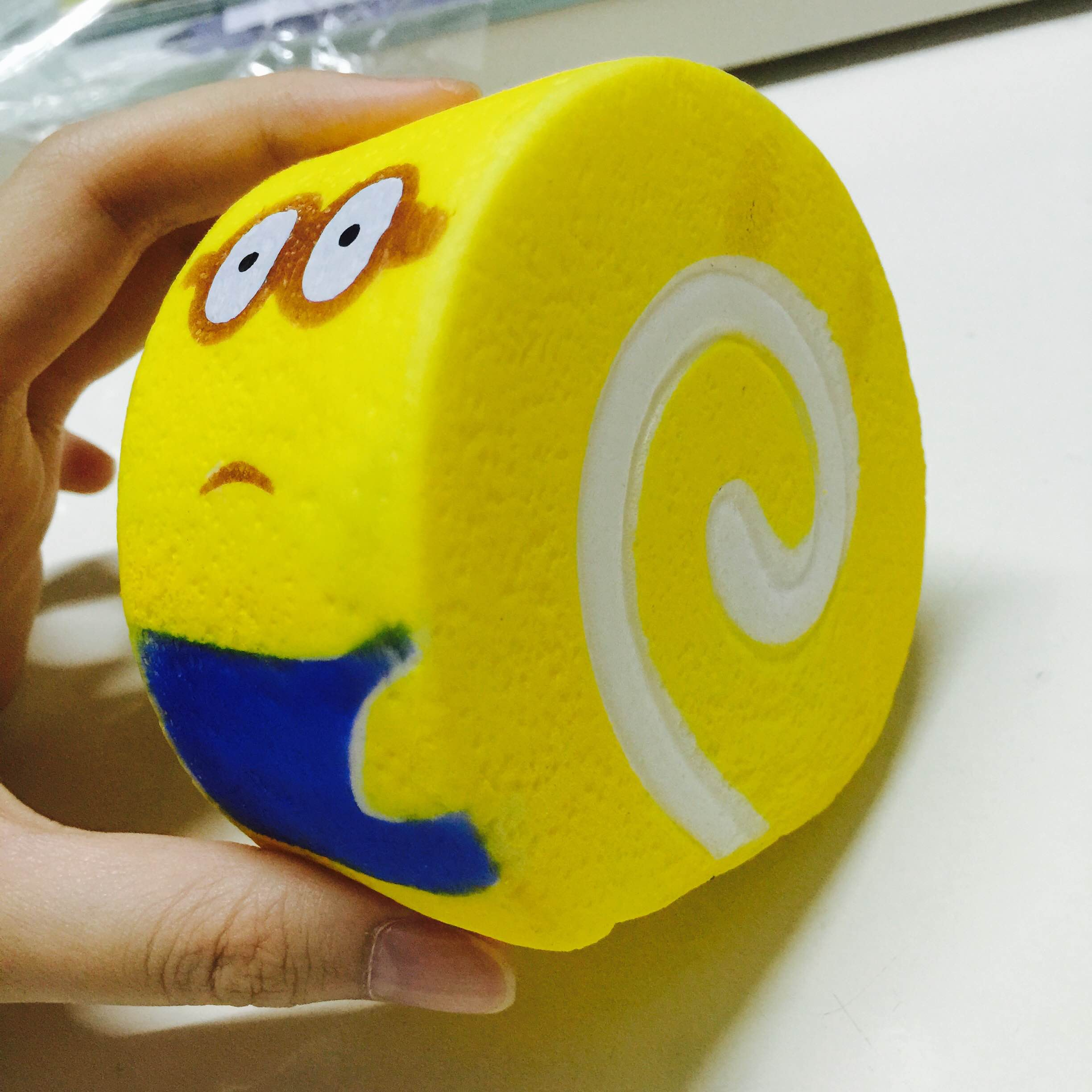 Squishy Eyes : ~SquishyStuff~ Cute Large Minion Two-Eyes Cakeroll Squishy Online Store Powered by Storenvy