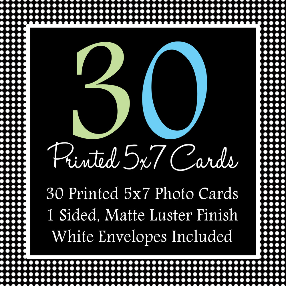 30 - 5x7 Printed Photo Invitations with White Envelope · Just ...