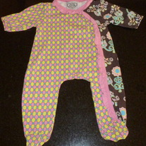 Yellow/Pink/Brown Romper-Flit and Flitter Size 3 Months  GS413