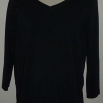 Black Long Sleeve V Neck Shirt-Oh Baby By Motherhood Size Medium  CL413