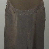 Tan/Green Skirt with Pink Stitching-Tomorrows Mother Size Small  CL413