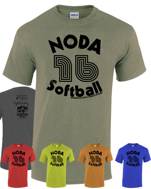 Noda 16 softball t shirt docklands online store for T shirt printing in charlotte nc