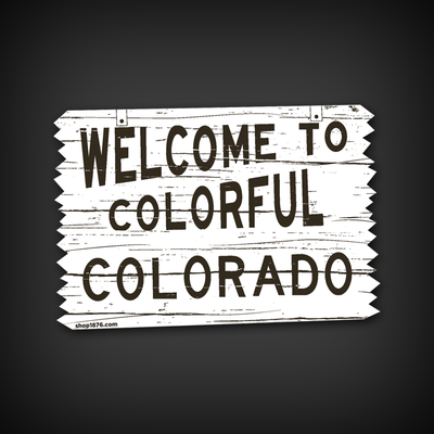 Welcome home die-cut decal