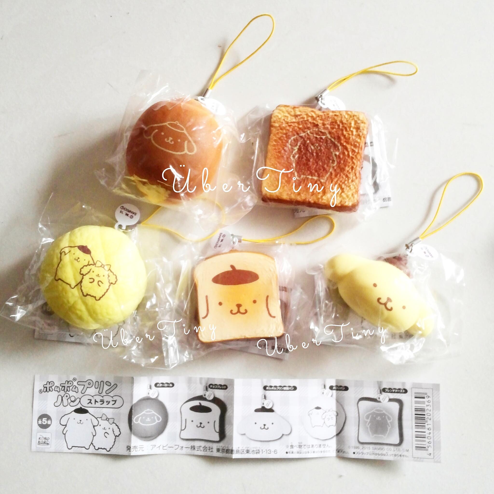 Pompompurin Squishy Bun : 5 Pom pom purin Sanrio bakery squishies (full set of 5) ? Uber Tiny ? Online Store Powered by ...