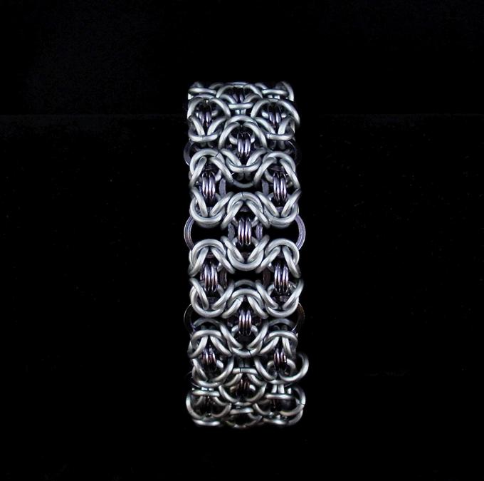 White Bracelet For Men Lattice Men's Bracelet ·