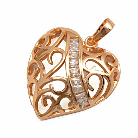 Rose gold heart pendant gold jewelry gold jewelry online shop rose gold heart pendant aloadofball Image collections