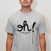 The Dripping Oh! Tee in Heather Grey