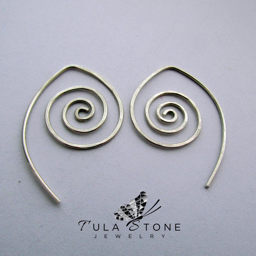 Sterling Spiral Earrings 183 Tula Stone Jewelry 183 Online