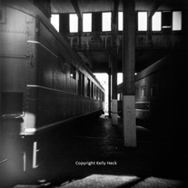 Train Museum, Holga BW