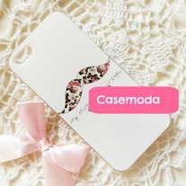 New Chic Floral Mustache iPhone 5 Hard Case Cover