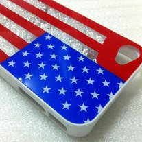 New Bling Sparkle Luxury Rhinestones USA Flag iPhone Case