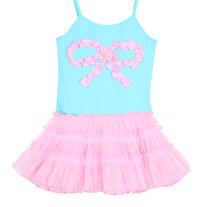 One Posh Kid Pink Tutu Aqua Dress